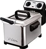 T-fal FR4049001 Family Pro 2.6-Pound / 3-Liter Deep Fryer with Stainless Steel Waffle, Silver