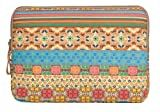 ColorYourLife Bohemian Style Canvas Sleeve Case Bag Cover for 15-inch Laptop / MacBook / MacBook Pro / MacBook Air (Bohemian Pattern, 15 inch)