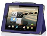 IVSO Acer Iconia A1-810 7.9-Inch Slim-BOOK PU Leather Stand Cover Case (Purple)