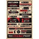 Fight Club Rules Movie Poster