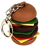 Kikkerland KRL35 Hamburger Keychain with Sound