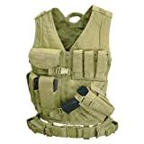 Condor Cross Draw Vest (Tan, X-Large/XX-Large)