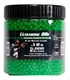 Soft Air 5,000 ct. Bottle Ultrasonic Green Airsoft BBs (6mm, 0.12g)
