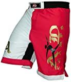ARD Pro MMA Fight Shorts UFC Cage Fight Grappling Muay Thai Boxing Kickboxing White-Red XS-3XL