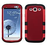 MYBAT SAMSIIIHPCTUFFSO006NP Premium TUFF Case for Samsung Galaxy S3 - 1 Pack - Retail Packaging - Titanium Red/Black