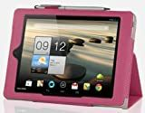 IVSO Acer Iconia A1-810 7.9-Inch Slim-BOOK PU Leather Stand Cover Case (Rose)