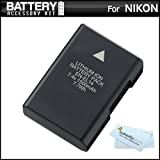 Replacement EN-EL14 Ultra High Capacity Li-ion Battery For Nikon D5100, D5200, D5300, D3100 and D3200, P7100, P7700 Digital Camera - Fully Decoded! (Nikon EN-EL14 Replacement) + ButterflyPhoto MicroFiber Cleaning Cloth