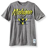 NCAA Michigan Wolverines Blazing Tri-Blend S/S Tee