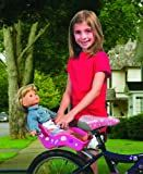 Doll Bicycle Seat - 'Ride Along Dolly' Bike Seat with Decorate Yourself Decals (Fits 18' American Girl and Standard Sized Dolls and Stuffed Animals)