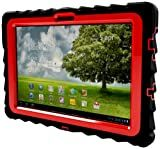 Gumdrop Cases Drop Tech Series Case for Asus EEE Pad Transformer TF101, Black-Red, (DT-ASUS-BLK-RED)
