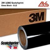 3M 1080 Gloss Black Vinyl Car Wrap 1ft X 5ft (5sq/ft)