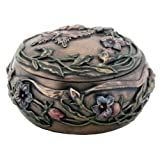 Butterfly with Floral Decoration Art Nouveau Design Jewelry Box
