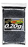 TSD Competition Grade 6mm plastic airsoft BBs, 0.20g, 5000 rds, black