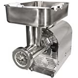 Weston 08-2201-W Number 22 Commercial Meat Grinder, 1 HP