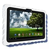 Gumdrop Cases Drop Tech Series Case for Asus EEE Pad Transformer TF101, White-Black, (DT-ASUS-WHI-BLK)