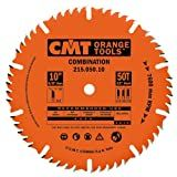 CMT 215.050.10 Industrial Combination Blade, 10-Inch x 50 Teeth 4ATB+1TCG Grind with 5/8-Inch Bore, PTFE Coating