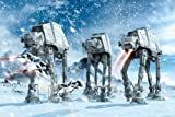 Posters: Star Wars Poster - AT-AT Walkers In The Frozen Hoth Landscape (36 x 24 inches)