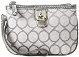 Nine West 9 Jacquard Wristlet Clutch,Fog/Charcoal,One Size