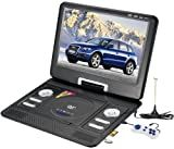 15' inch Portable DVD Player TV USB Card Reade Game FM Radio Swivel LCD VGA RMVB