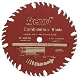 Freud LU84R009 9-Inch 40 Tooth ATBF Combination Saw Blade with 5/8-Inch Arbor and PermaShield Coating