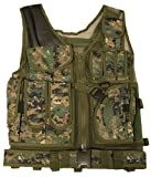 Ultimate Arms Gear Tactical Marpat Woodland Digital Camouflage Lightweight Edition Tactical Scenario Military-Hunting Assault Vest w/ Right Handed Quick Draw Pistol Holster