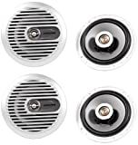(2) Pairs Brand New Alpine Sps-m600 6.5' 2 Way Marine Coaxial Speakers
