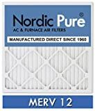 Nordic Pure 20x25x5L1M12-2 Lennox X6673 Replacement MERV 12 Pleated Furnace Air Filter, Box of 2