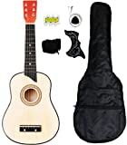 Crescent MG25-NR Kids Acoustic Toy Guitar 25-Inch, Natural Wood Color