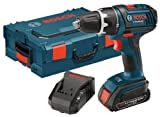 Bosch DDS181-102L 18-Volt Lithium-Ion 1/2-Inch Compact Tough Drill/Driver Kit with High Capacity Battery, Charger and L-BOXX-2
