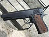 1911 SPRING/AIR HOP UP FULL MAG BB Airsoft Gun Black