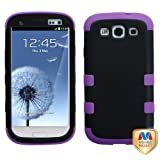 MYBAT SAMSIIIHPCTUFFSO027NP Premium TUFF Case for Samsung Galaxy S3 - 1 Pack - Retail Packaging - Black/Electric Purple