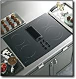 GE PP989DNBB Profile 30' Black Electric Smoothtop Cooktop - Downdraft