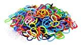 Colorful Silicone LOOM BANDS - 600 Bands & 25 'S' Clips!