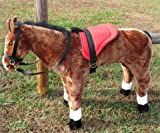 SADDLE SET FOR MELISSA AND DOUG GIANT STANDING HORSE - RED