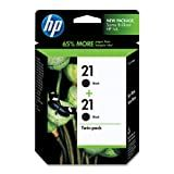 HP 21 Ink Cartridge in Retail Packaging, Twin Pack-Black