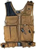 Airsoft Tactical Vest Desert w/ Holster