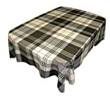 Sebastien & Groome City Plaid Tablecloth, Grey 60 by 84 Inches Oblong