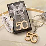 50th Anniversary key ring favors, 1