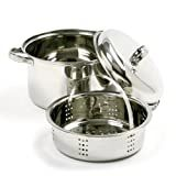 Norpro 4 Quart Stainless Steel Steamer Cooker 3 Piece Set