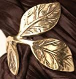 Set of 4 Entertaining Fall Autumn Brass Leaf Napkin Rings Holder, 1.5x1.5x1.5'