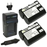 Wasabi Power Battery (2-Pack) and Charger for Nikon EN-EL15 and Nikon 1 V1, D600, D610, D800, D800E, D7000, D7100