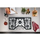 GE CGP650SETSS Cafe 36' Stainless Steel Gas Sealed Burner Cooktop