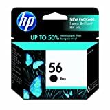 HP 56 C6656AN#140 Ink Cartridge in Retail Packaging-Black