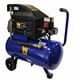 WEN 2276 Oil Lubricated Horizontal Tank Air Compressor, 6-Gallon