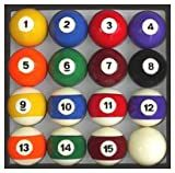 Pool Table Billiard Ball Set, Traditional Style