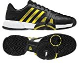 Adidas Bercuda 2.0 Tennis Shoe Running - Black/Vivid Yellow/Running White (Men)