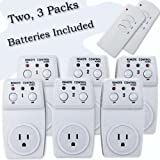 Wireless Remote Control Outlet Switch, Two 3 Packs (6 Outlets) for Appliances, Lamps, Air Conditioners, or any Electrical Equipment