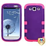 MYBAT SAMSIIIHPCTUFFSO014NP Premium TUFF Case for Samsung Galaxy S3 - 1 Pack - Retail Packaging - Grape/Electric Pink