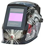 ArcPro 20704 Auto-Darkening Solar Powered Welding Helmet with Grinding Mode, Alien Design