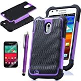 Pandamimi ULAK Purple Heavy Duty Rugged Hard Case for Samsung Galaxy S2 D710 Epic Touch Sprint with Free Screen Protector and Stylus